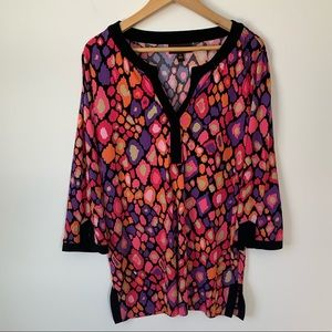 Dana Buchman printed tunic top
